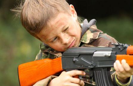 Vaikų pramogos šaudykloje